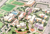 aerial view of proposed master plan
