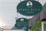 new signage at Pebble Beach