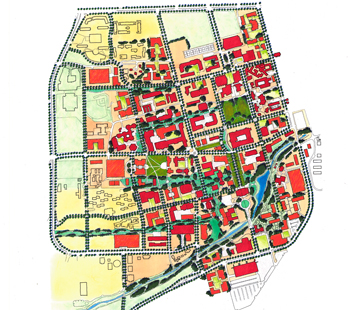 Illlustrative of campus plan
