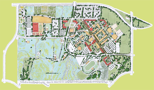Illustrative of proposed master plan