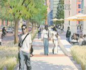Concept of proposed street scene in the Health Sciences district